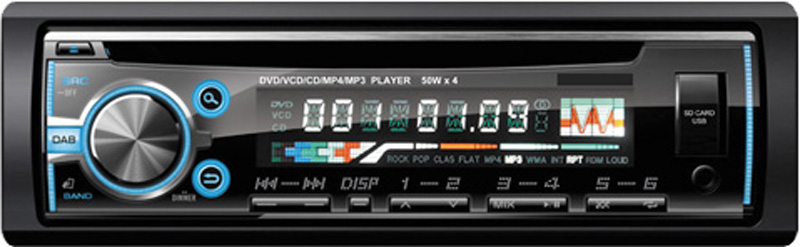 one din fix panel USB mp3 player
