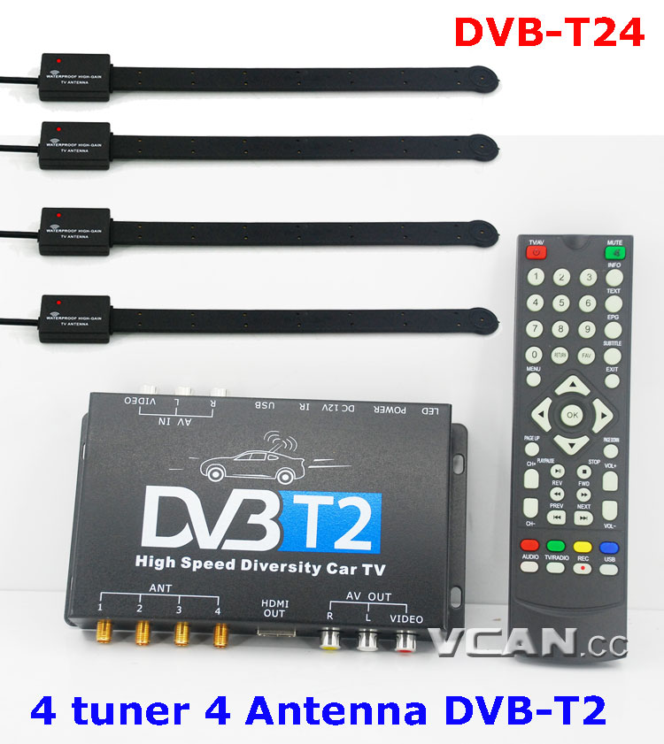 DVB-T2 Quad tuner quadantenna