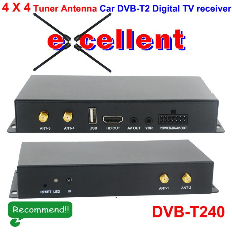 DVB-T240 4 x 4 Siano Tuner Diversity Antenna Car dvb-t2 digitalreceiver