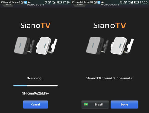 wifi DTV channel scan