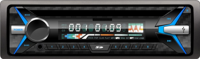 5250 one din fix panel USB MP3 player