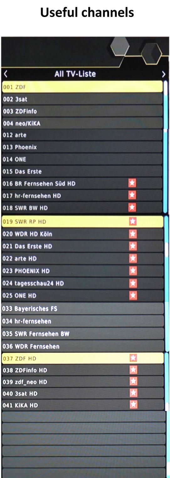 Germany DVB-2 Channel List H.265
