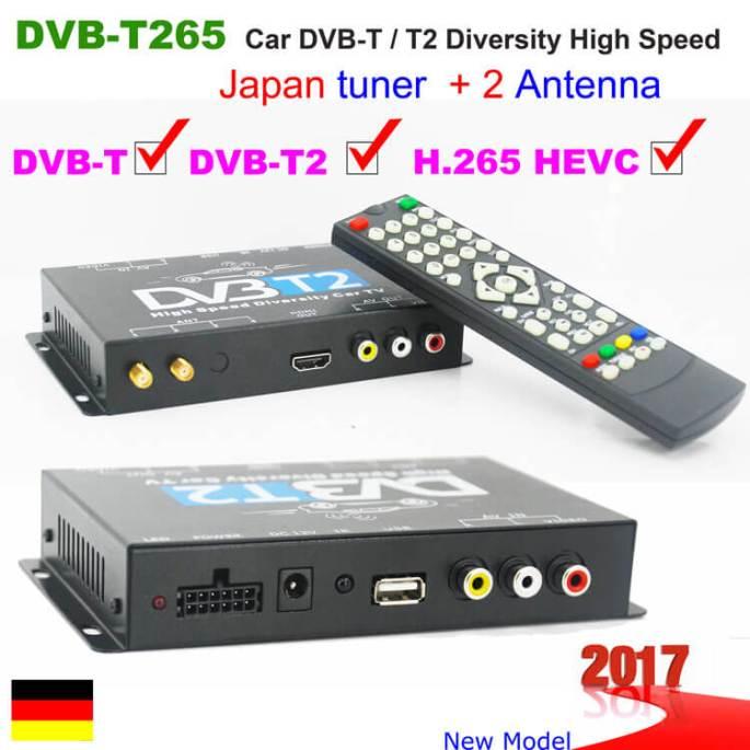 German Car DVB-T2 H265