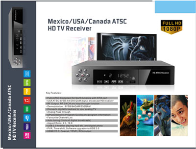 Mexico ATSC HD TV box
